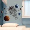 """สติ๊กเกอร์ติดผนังตกแต่งบ้าน """"Astronaut in Space"""" ความสูง 90 cm ความยาว 120 cm"""