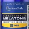 หลับสบาย ผ่อนคลายความตึงเครียด Puritan's Pride Melatonin 5 mg ขนาด 120 tablets
