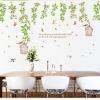 "Wall Sticker สติ๊กเกอร์ตกแต่งผนัง หมวดต้นไม้ ""Green Leaf and birdcage"" ความสูง 95 cm กว้าง 150 cm"