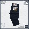 """กางเกงผ้าสี(ผ้าไม่ยืด) ผู้ชายอ้วน ทรงกระบอกเล็ก 38-44"""" (สีกรมท่า)"""