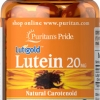 ช่วยการมองเห็น Puritan's Pride Lutein 20 mg with Zeaxanthin / 60 softgels