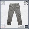 """กางเกงสแล๊คขายาว ผู้ชายอ้วน ทรงกระบอกเล็ก (สีกากี) 38-48"""""""