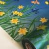 """สติ๊กเกอร์ติดกระจกแบบมีกาวในตัว """"รั้วดอกไม้"""" ความสูง 90 cm ตัดแบ่งขายเมตรละ 189 บาท (ขั้นต่ำ 3m)"""