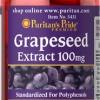 อาหารเสริมบำรุงผิว ลดริ้วรอย Puritan's Pride Grapeseed Extract 100 mg / 100 Capsules