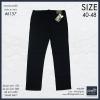"""40-48"""" กางเกงยีนส์ ขายาว BIGSIZE ทรงกระบอกเล็ก สีดำ (ซิบ-ผ้ายืด) #6157"""