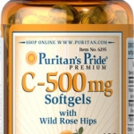 Puritan's Pride Vitamin C-500 mg with Bioflavonoids & Rose Hips ขนาด 100 Softgels