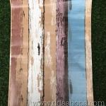"Wallpaper Sticker วอลล์เปเปอร์แบบมีกาวในตัว ""ลายไม้เก่าสีฟ้าน้ำตาล"" กว้าง 45cm x 10m"