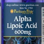 ต้านอนุมูลอิสระPuritan Pride Alpha Lipoic Acid 600 mg ขนาด 60 Capsule