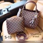 กระเป๋าถือ Shumiya ลายหลุย ชุดเช็ท 2 ใบ มาใหม่