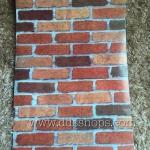 "Wallpaper Sticker วอลล์เปเปอร์แบบมีกาวในตัว ""อิฐแดงส้ม"" กว้าง 45cm x 10m"