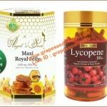 นมผึ้งAngel secret maxi 1650 mg.6%10HDA33mg.1 ปุก 365 เม็ด+ Skin Safe Lycopene 50 Mg สารสกัดมะเขือเทศเยอรมัน 150เม็ดลดสิว ฝ้ากระ จุดด่างดำ เปลี่ยนคุณเป็นคนผิวสวยอมชมพู ไม่แก่ ไม่โทรม สุขภาพดี