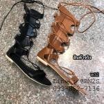 รองเท้าแตะผู้หญิง มัดเชือก กึ่งบูท มีสองสี 36-40
