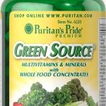 วิตามินรวมสำหรับคนไม่ทานผัก Green Source Multivitamin & Minerals / 60 caplets