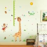 """สติ๊กเกอร์ติดผนังที่วัดส่วนสูงสำหรับเด็ก """"ที่วัดส่วนสูง Growth up Giraffe"""" สเกลเริ่มต้น 50cm ถึง 170cm"""