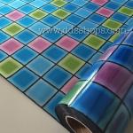 """PVC สูญญากาศติดกระจก """"Modern Color Cube"""" หน้ากว้าง 90 cm ราคาต่อเมตร 290 บาท (ตัดความยาวต่อเนื่อง)"""