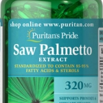 ลดปัญหาผมร่วง Puritan's Pride Saw Palmetto Standardized Extract 320 mg ขนาด 60 softgels