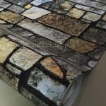 """วอลเปเปอร์ ลายอิฐ """"ลายอิฐ Stone Therapy"""" หน้ากว้าง 122 cm เมตรละ 250 บาท"""