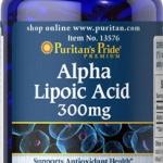 ต้านอนุมูลอิสระPuritan Pride Alpha Lipoic Acid 300 mg ขนาด 60 Softgels