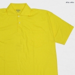 Basic Polo สี้เหลืองสด 2 4 6XL ผ้าคัทตอน 100%