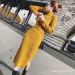 Vintage Knit pullover dress