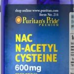 บำรุง ผิวขาว กระจ่างใส Puritan's Pride N-Acetyl Cysteine (NAC) 600 mg / 60 เม็ด