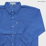 เสื้อเชิ๊ตยีนส์ สีฟ้าอ่อน แขนยาว ผ้าบาง ใส่สบาย ไม่ร้อน (ผ้าแชมเบ้)