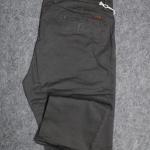 """กางเกง สแลค ผ้ายืด ผู้ชายอ้วน ทรงกระบอกเล็ก (สีเทาดำ) 40-46"""""""