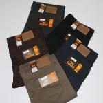 """38-46"""" กางเกงผ้ายืด ขากระบอก #L105 สีดำ,โอวัลติล,กรม,เทา,น้ำตาล"""