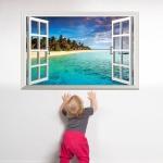 """สินค้าล้างสต็อก ลดราคา 50% """"หน้าต่าง Window and Beautiful Beach"""" ความกว้าง 90 cm สูง 60 cm"""