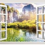 """สติ๊กเกอร์ติดผนัง """"หน้าต่าง 2"""" ความสูง 60 cm กว้าง 90 cm"""