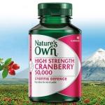 (แบ่งขาย 30 เม็ด) Nature's Own cranberry 50,000mg. แครนเบอรี่เข้มข้นลดกลิ่นจุดซ่อนเร้น ผิวใสสุขภาพดีด้วย จากออสเตรเลีย