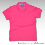 Basic Polo สีบานเย็นไดมอนด์ M-2XL ผ้าจุติ