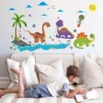 """สติ๊กเกอร์ติดผนังตกแต่งบ้าน """"ไดโนเสาร์ Cute Dino"""" ความสูง 75 cm กว้าง 135 cm"""