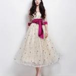 ชุดออกงานลูกไม้โบฮีเมียนนางฟ้า Xiaoqing ชุดกระโปรงใหม่เกาหลีน่ารักสง่างาม