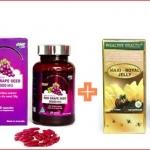 biosis Red Grape Seed 38,000 mg1ปุก 100 เม็ด + นมผึ้ง maxi 6% 1,650 mg. 1ปุก 120 เม็ด ทานบำรุงผิวพรรณเนียนใส และสุขภาพดี
