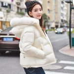 PRE Faux Fur Hooded Down Coat - short