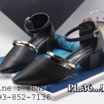 รองเท้า สวม มีสายรัดข้อเท้า เสริมซ้น 36-40