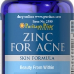 ลดการเกิดสิว บำรุงผิว Puritan's Pride - Zinc for Acne ขนาด 100 เม็ด