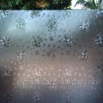 """PVC สูญญากาศติดกระจก """"ดอกไม้สไตล์วินเทจ"""" หน้ากว้าง 90 cm ราคาต่อเมตร 250 บาท (ตัดความยาวต่อเนื่อง)"""
