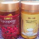 ไลโคปีน สารสกัดมะเขือเทศสกัดเย็น บรรจุ 150 เม็ด + Skin Safe Super L-Glutathione ชนิดเม็ด 150 เม็ด 150 เม็ด