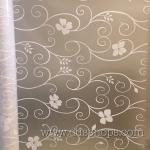 """PVC สูญญากาศติดกระจก """"White Flower Curve"""" หน้ากว้าง 90 cm ราคาต่อเมตร 290 บาท (ตัดความยาวต่อเนื่อง)"""