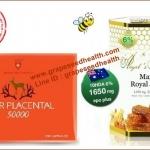 นมผึ้งAngel secret maxi royal jelly 1650 mg.6%10HDA33mg.1 ปุก 365 เม็ด+ รกแกะกวาง 50,000 mg. 1 กล่อง 100 เม็ด