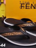 รองเท้าแตะผู้ชาย หนีบ ลาย FF ไซต์ 38-43 สีดำ