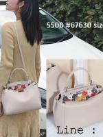 กระเป๋าถือ peekaboo สไตล์ฟินดิ 9 นิ้ว ประดับดอกไม้