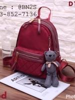 กระเป๋าเป้ ผ้าไนลอน แถมฟรีพวงกุญแจหมี