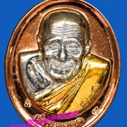 เหรียญรุ่น 29 ผ่านตลอด หลวงปู่ผ่าน วัดป่าปทีปปุญญาราม จ.สกลนคร ปี2552 พื้นนาก