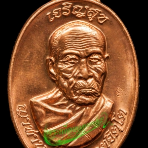 เหรียญรุ่นเจริญสุขร่ำรวย หลวงปู่คำบุ วัดกุดชมภู จ.อุบลราชธานี ปี2553