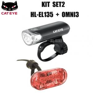 ชุดไฟหน้าหลัง CATEYE KIT SET2