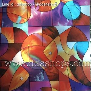 """สติ๊กเกอร์ติดกระจกแบบมีกาวในตัว """"ปลากราฟฟิค"""" ความสูง 90 cm ตัดแบ่งขายเมตรละ 189 บาท (ขั้นต่ำ 3m)"""