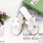 รองเท้าแตะผู้หญิง ตัว H หนัง ปั๊ม พร้อมกล่อง 36-40 สีขาว thumbnail 1